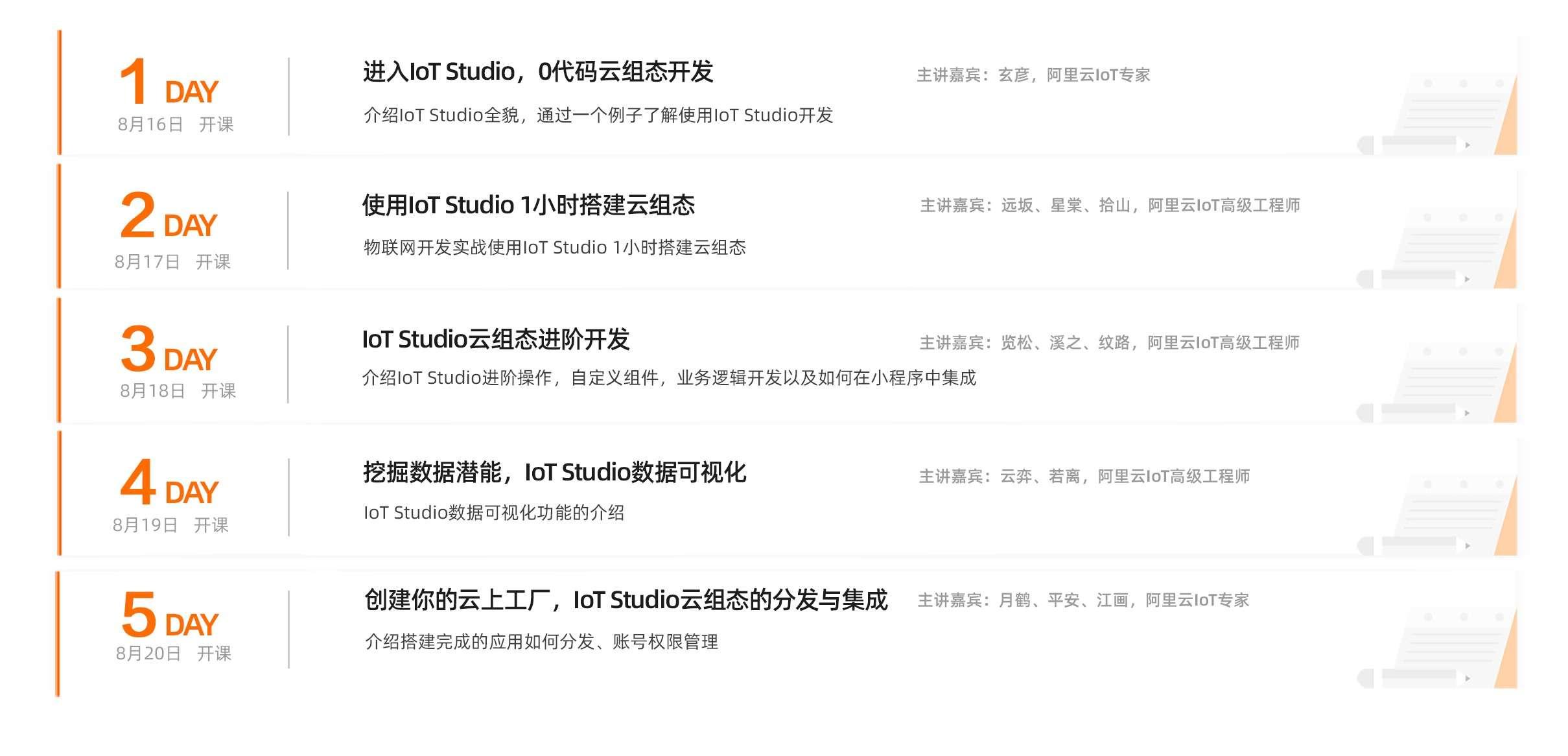 五营连开第四期—物联网应用开发IoT Studio训练营打卡引导