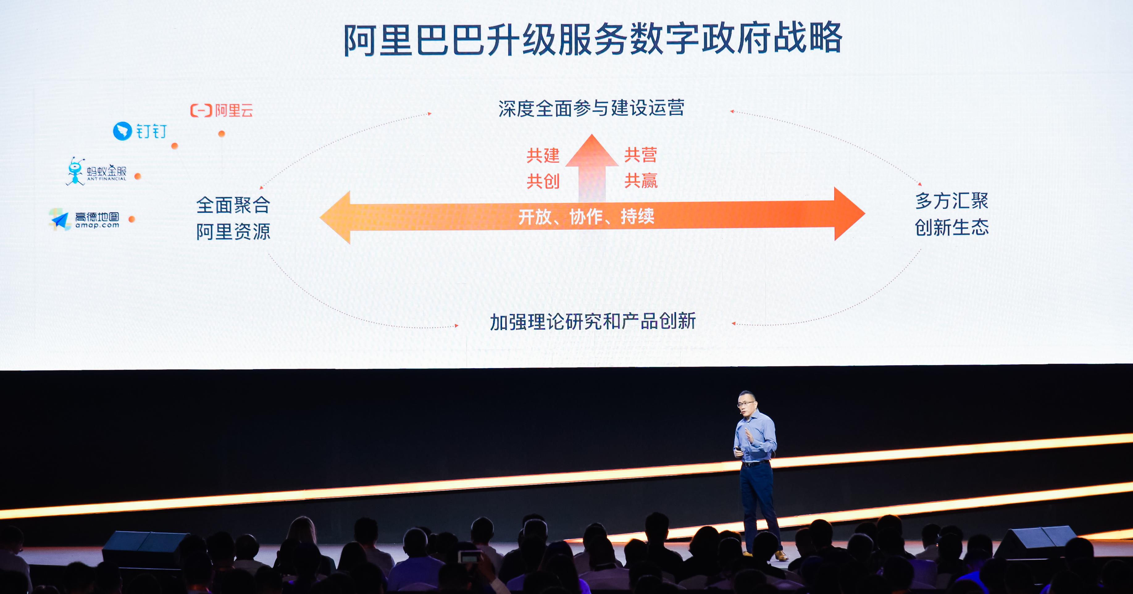 7月25日在阿里云峰会·上海站上,阿里巴巴宣布升级服务数字政府战略.jpg