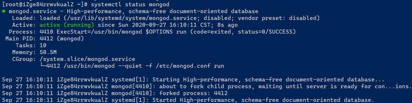MongoDB运行状态