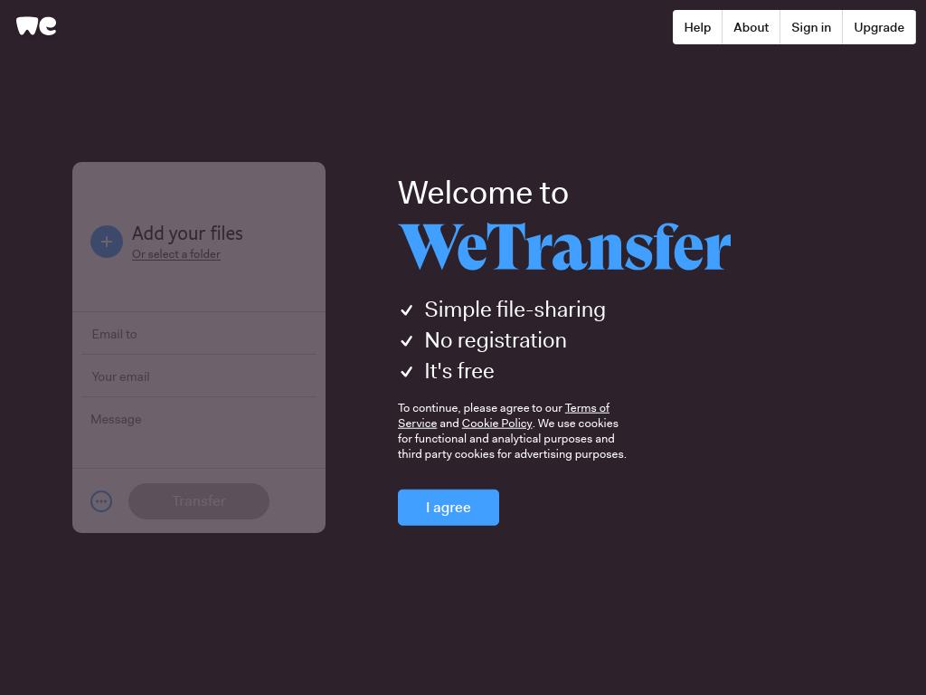 WeTransfer,大文件在线传输共享平台-爱资源网 , 专注分享实用软件工具&资源教程